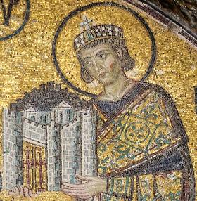 Mozaic Constantin cel Mare - Sfânta Sofia, Istanbul